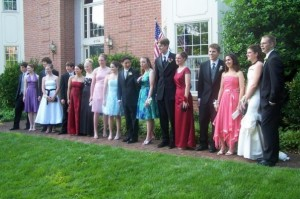 Me at 19. I'm the one in the pink dress. And yes, there was a flask under it.